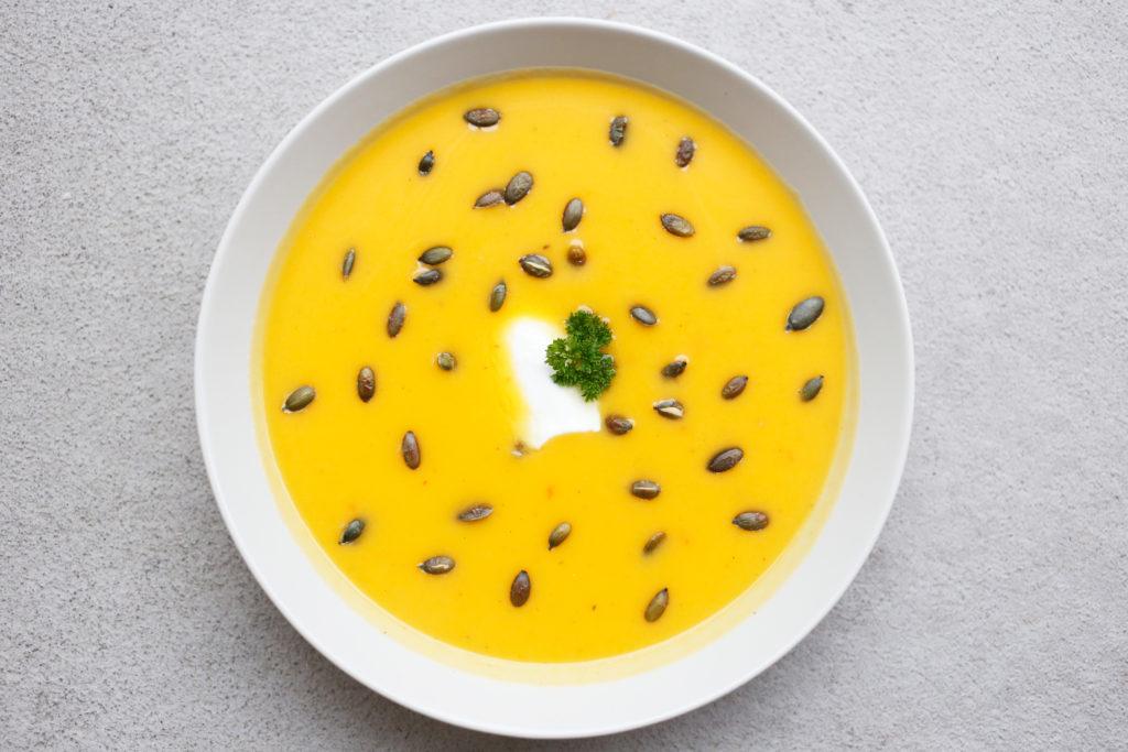 suppe med gresskar