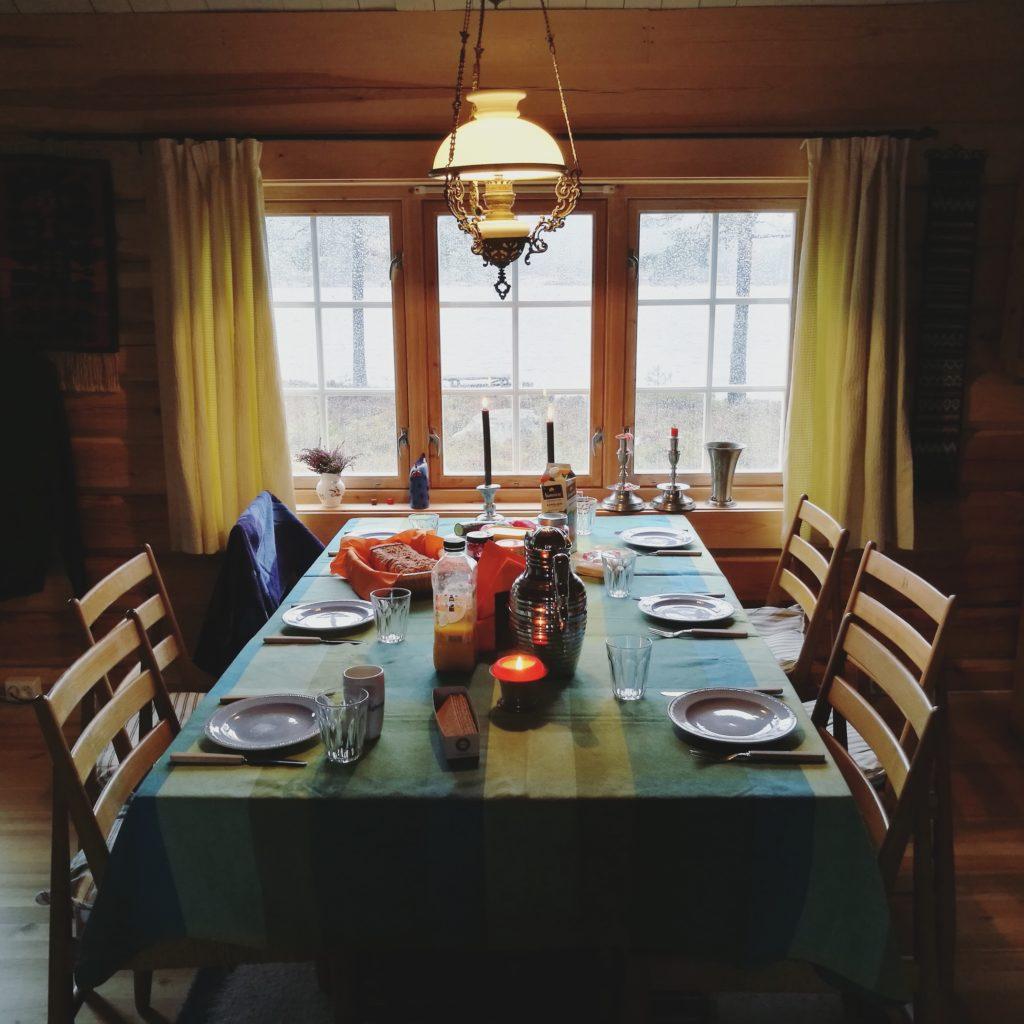 Frokost på hytta i Telemark