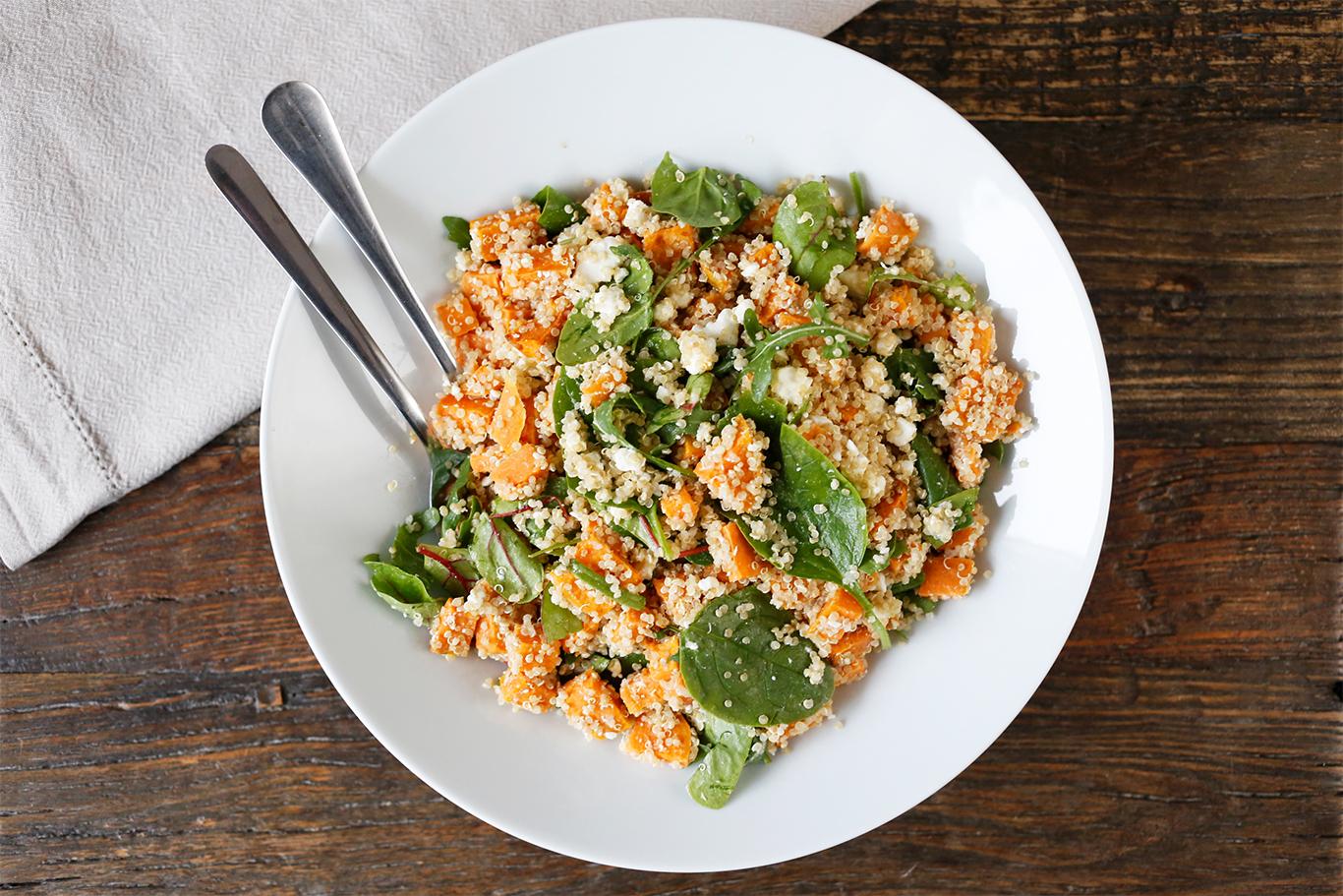 Quinoa- og søtpotetsalat